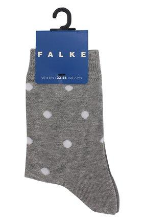 Детские хлопковые носки FALKE серого цвета, арт. 10206 | Фото 1