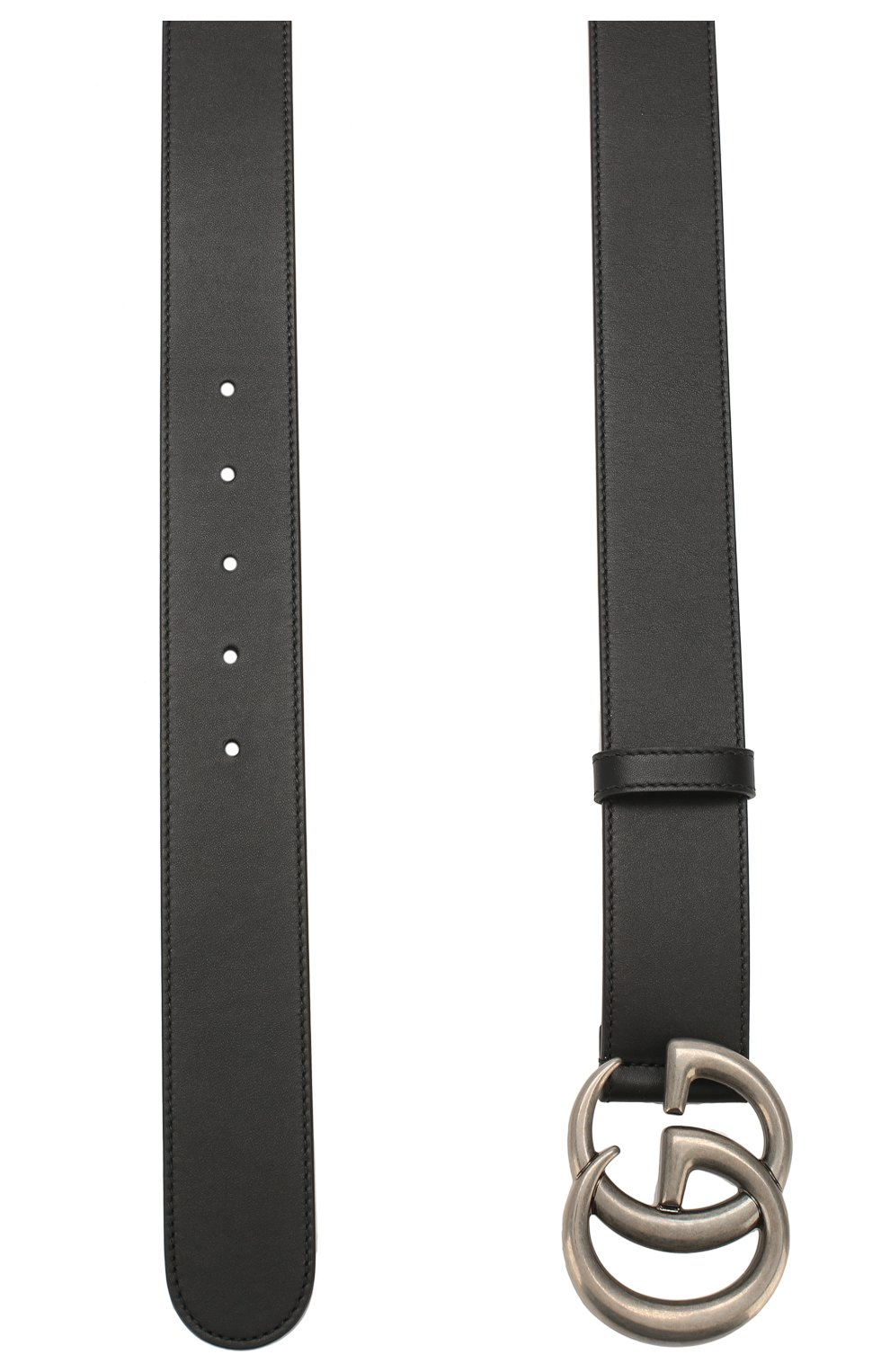 Мужской кожаный ремень GUCCI черного цвета, арт. 397660/AP00N   Фото 2