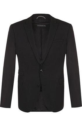 Однобортный шерстяной пиджак Drykorn синий | Фото №1