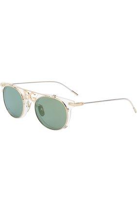 Мужские солнцезащитные очки DOLCE & GABBANA зеленого цвета, арт. 2196-488/6R | Фото 1