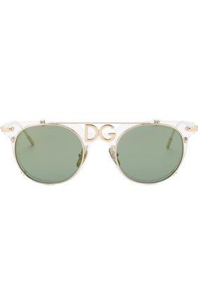 Мужские солнцезащитные очки DOLCE & GABBANA зеленого цвета, арт. 2196-488/6R | Фото 2