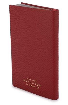 Мужской записная книжка с кожаной обложкой SMYTHSON красного цвета, арт. 1020756   Фото 2