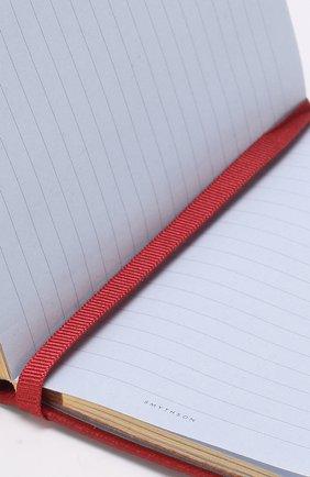 Мужской записная книжка с кожаной обложкой SMYTHSON красного цвета, арт. 1020756   Фото 3