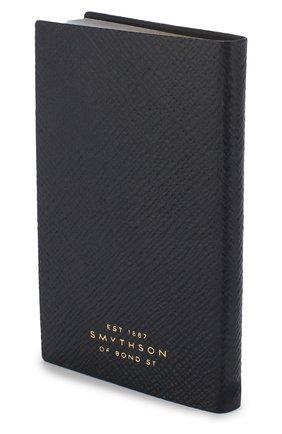 Мужской записная книжка с кожаной обложкой SMYTHSON темно-синего цвета, арт. 1020765 | Фото 2