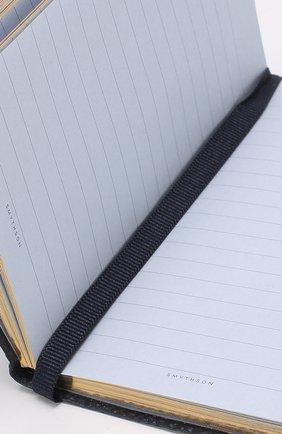 Мужской записная книжка с кожаной обложкой SMYTHSON темно-синего цвета, арт. 1020765 | Фото 3