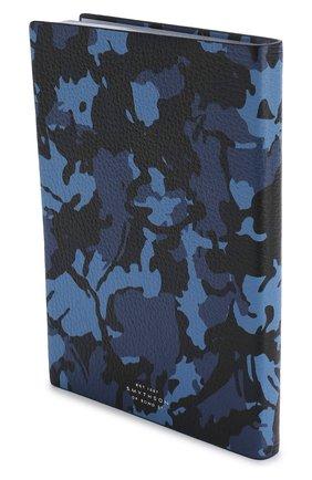 Мужской записная книжка с кожаной обложкой SMYTHSON темно-синего цвета, арт. 1020850 | Фото 2