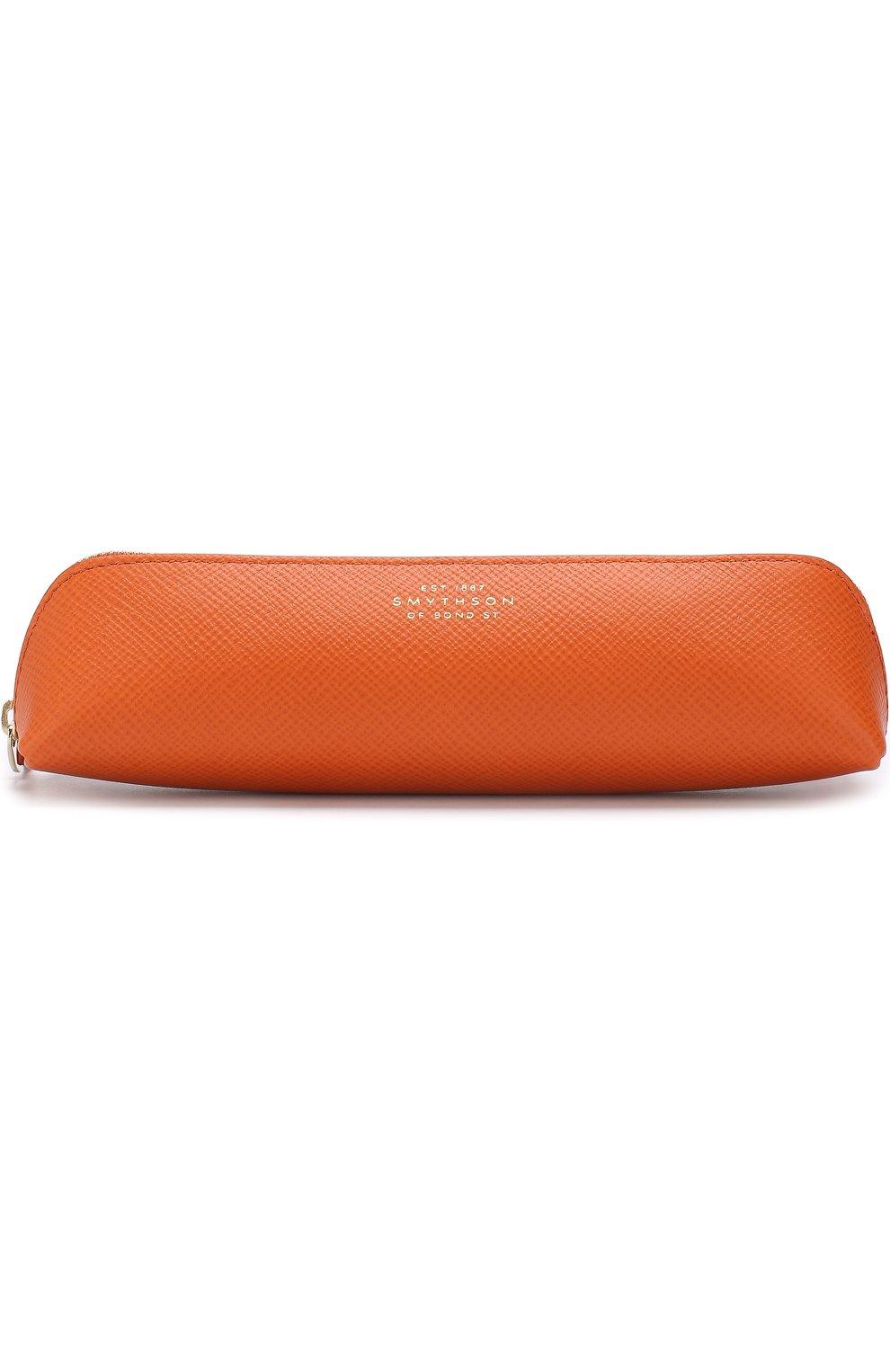 Мужской кожаный футляр для карандашей SMYTHSON оранжевого цвета, арт. 1020599   Фото 1
