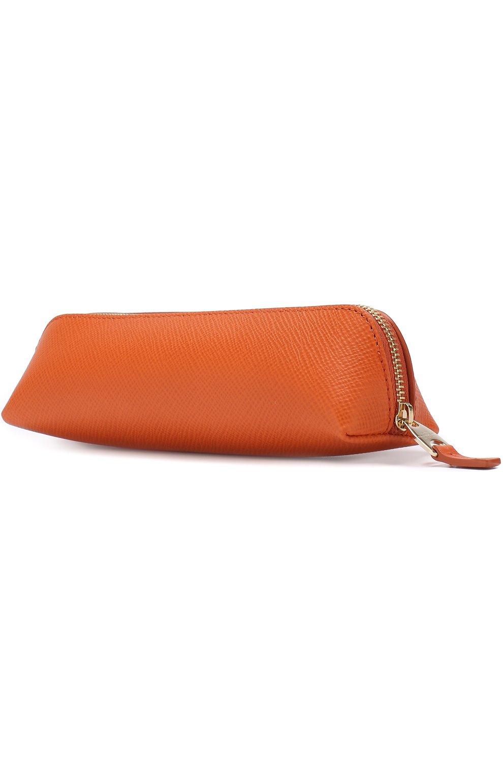 Мужской кожаный футляр для карандашей SMYTHSON оранжевого цвета, арт. 1020599   Фото 2