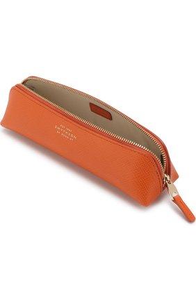 Мужской кожаный футляр для карандашей SMYTHSON оранжевого цвета, арт. 1020599   Фото 3