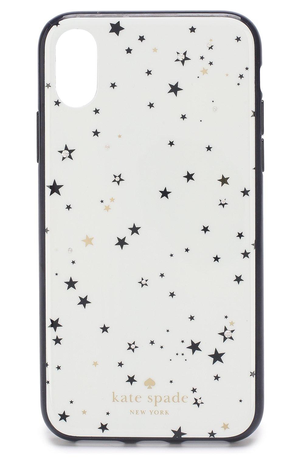 Мужской чехол для iphone х с принтом KATE SPADE NEW YORK белого цвета, арт. 8ARU2225 | Фото 1
