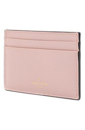 Женский кожаный футляр для кредитных карт valentino garavani rockstud VALENTINO светло-розового цвета, арт. PW0P0486/B0L | Фото 2