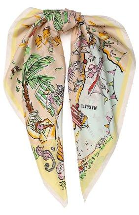 Шелковый платок с принтом Seaside | Фото №1