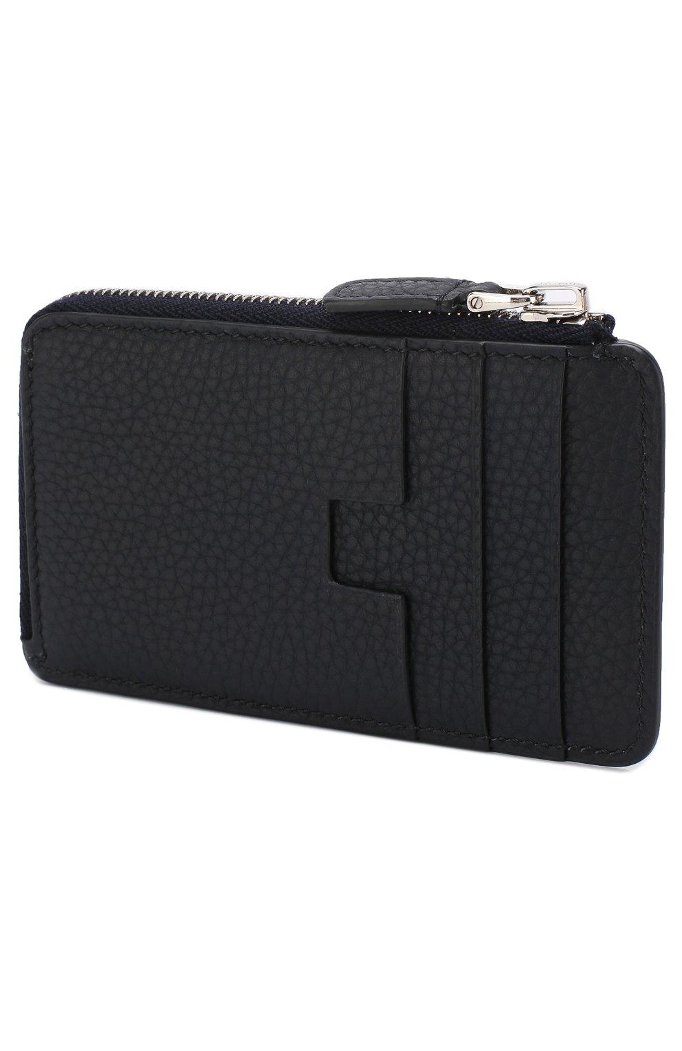 Мужской кожаный футляр для кредитных карт с отделением для монет TOM FORD темно-синего цвета, арт. Y0238P-C95 | Фото 2