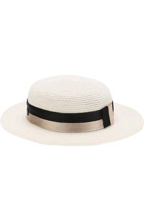 Шляпа Rod с лентой Maison Michel кремвого цвета | Фото №1