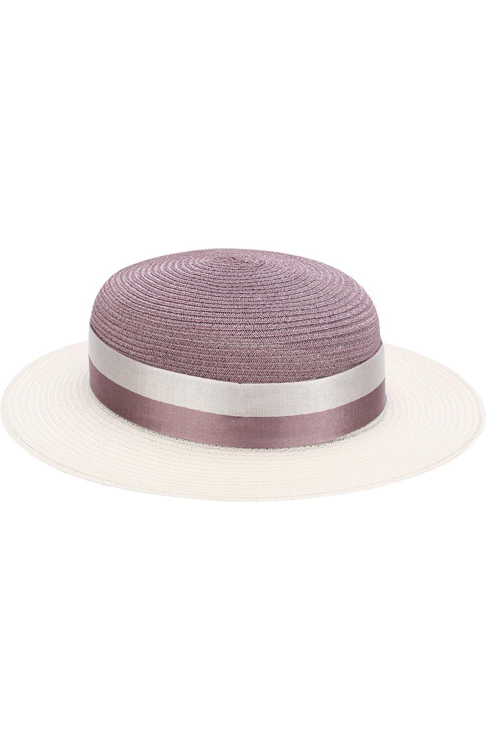 Женская шляпа rod с лентой MAISON MICHEL сиреневого цвета, арт. 1062015004/R0D   Фото 1
