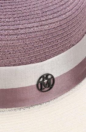 Женская шляпа rod с лентой MAISON MICHEL сиреневого цвета, арт. 1062015004/R0D   Фото 3