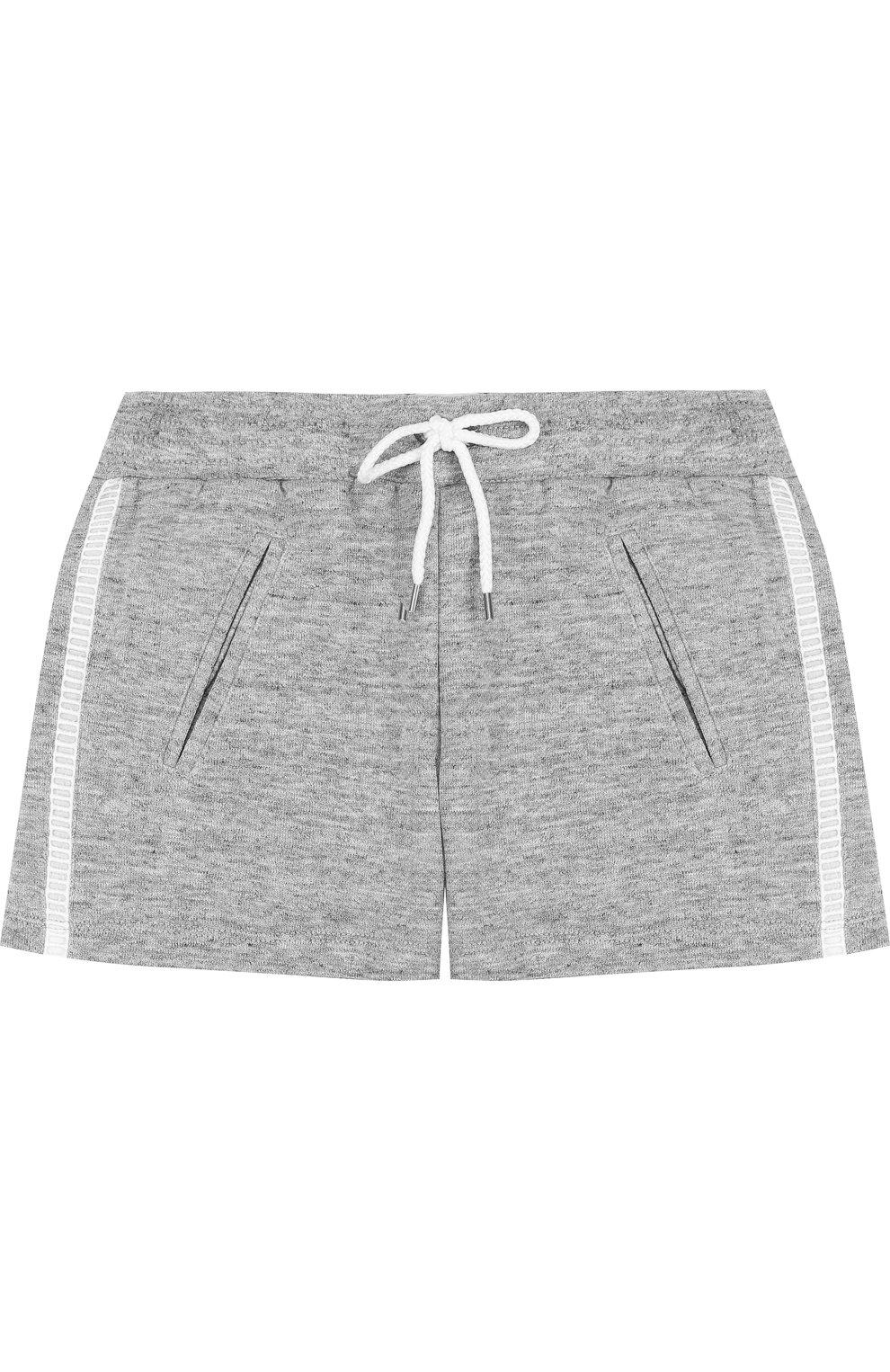 Детские хлопковые шорты CHLOÉ серого цвета, арт. C14545/14A | Фото 1