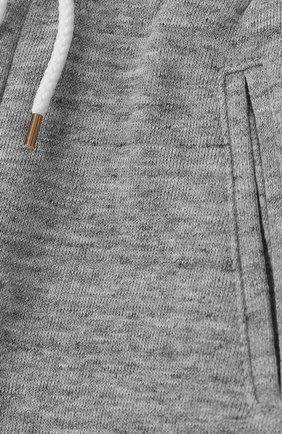 Детские хлопковые шорты CHLOÉ серого цвета, арт. C14545/14A | Фото 3