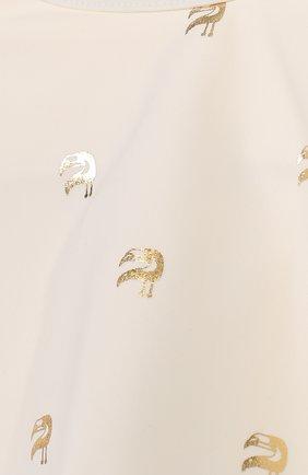 Детского раздельный купальник с металлизированным принтом CHLOÉ белого цвета, арт. C17065/6A-12A | Фото 3