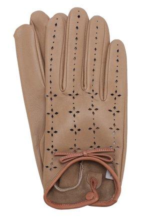 Кожаные перчатки с перфорацией | Фото №1