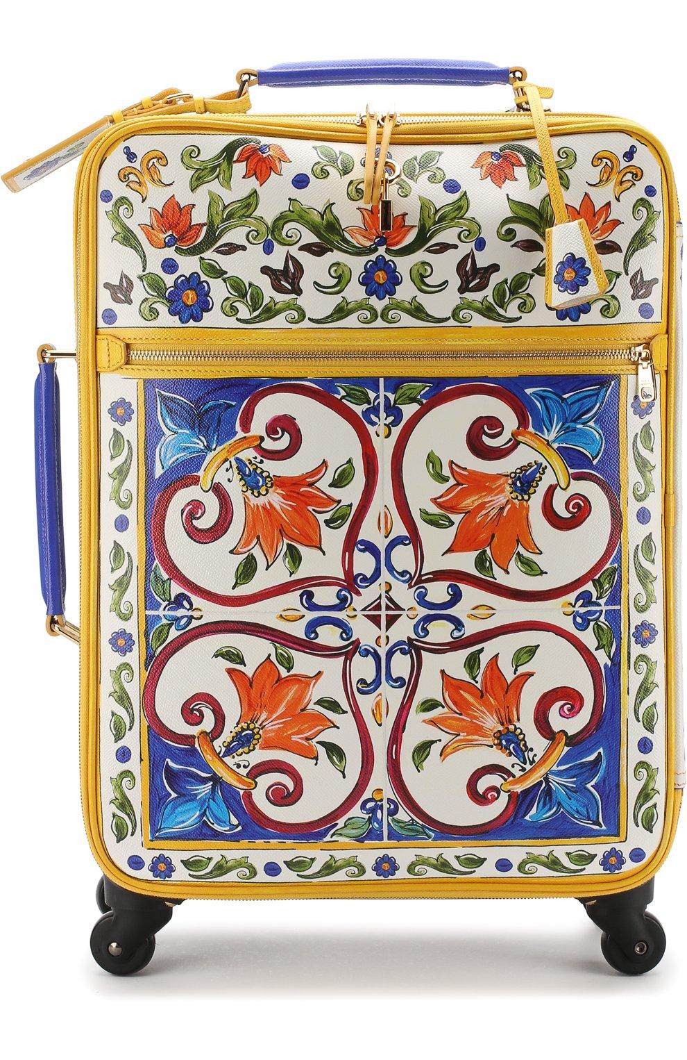 Женская чемодан sicily trolley DOLCE & GABBANA разноцветного цвета, арт. BB6202/AI230 | Фото 1