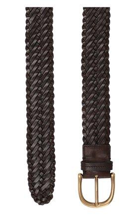 Мужской кожаный ремень TOM FORD темно-коричневого цвета, арт. TB212M-IC7 | Фото 2