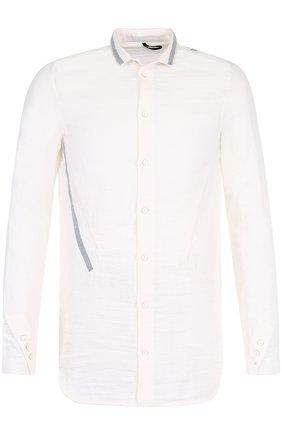 Удлиненная хлопковая рубашка Masnada белая | Фото №1