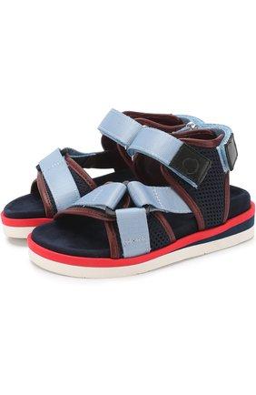 Текстильные сандалии с застежками велькро   Фото №1