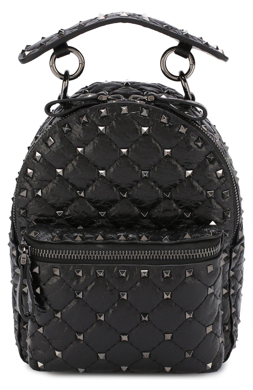 Женский рюкзак valentino garavani rockstud spike mini VALENTINO черного цвета, арт. PW0B0B63/ARD | Фото 1