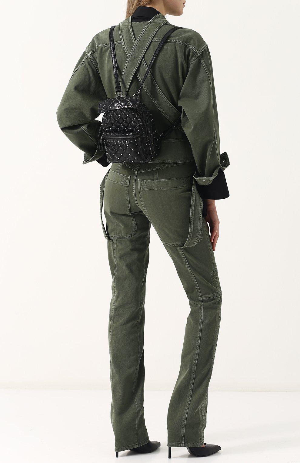 Женский рюкзак valentino garavani rockstud spike mini VALENTINO черного цвета, арт. PW0B0B63/ARD | Фото 2