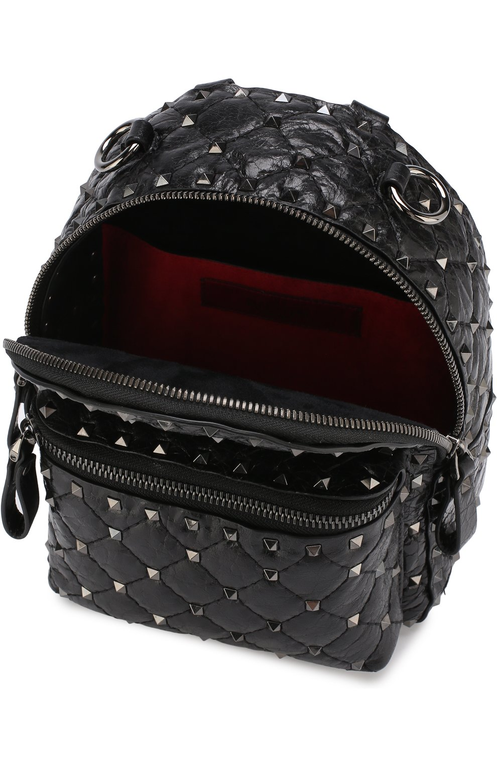 Женский рюкзак valentino garavani rockstud spike mini VALENTINO черного цвета, арт. PW0B0B63/ARD | Фото 4