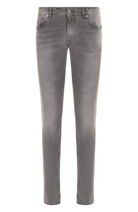 Мужские джинсы прямого кроя  STONE ISLAND серого цвета, арт. 6815J2ZQ8 | Фото 1