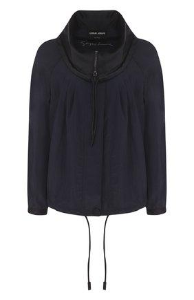 Однотонная куртка из вискозы с отложным воротником | Фото №1