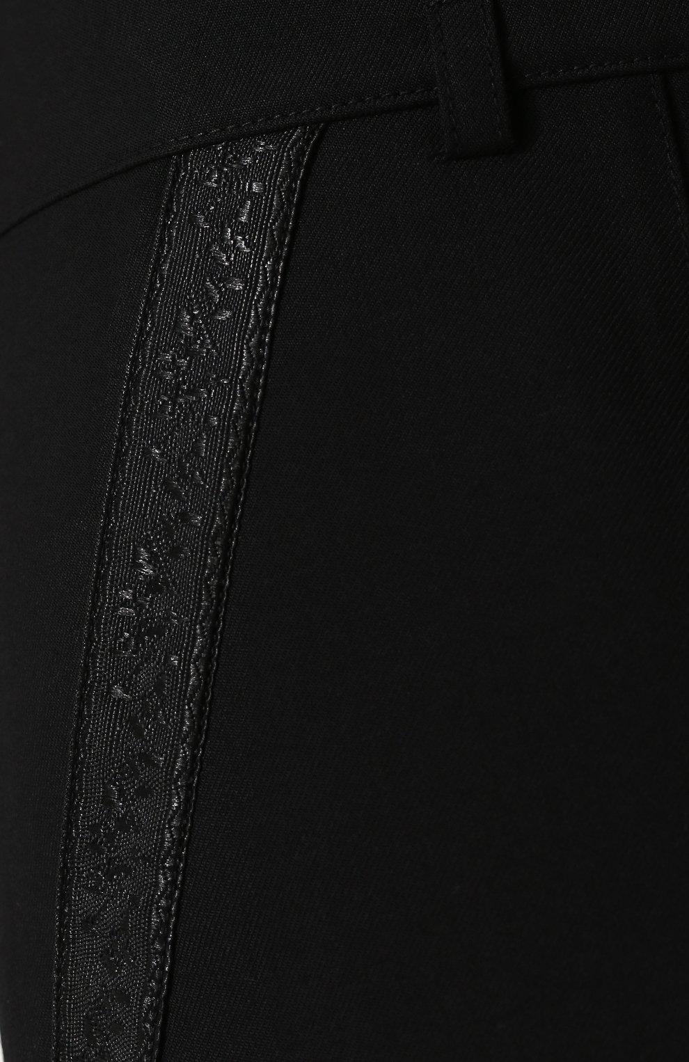 Женские однотонные шерстяные мини-шорты SAINT LAURENT черного цвета, арт. 517846/Y239W | Фото 5