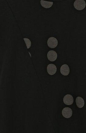 Детское хлопковое платье свободного кроя с принтом NUNUNU черного цвета, арт. NU1785A | Фото 3