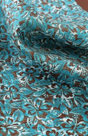Мужской шелковый платок с принтом KITON коричневого цвета, арт. UP0CH/7P76 | Фото 3
