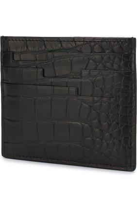 Мужской футляр для кредитных карт из кожи крокодила ZILLI черного цвета, арт. MJL-0WC02-1010M/0001 | Фото 2