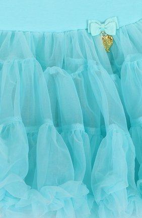 Многослойная мини-юбка свободного кроя с оборкой | Фото №3