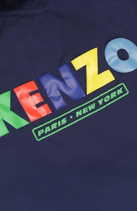 Детского комплект из ветровки и панамы с логотипом бренда KENZO темно-синего цвета, арт. KL42508/8A-12A | Фото 4