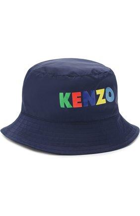 Детского комплект из ветровки и панамы с логотипом бренда KENZO темно-синего цвета, арт. KL42508/8A-12A | Фото 5