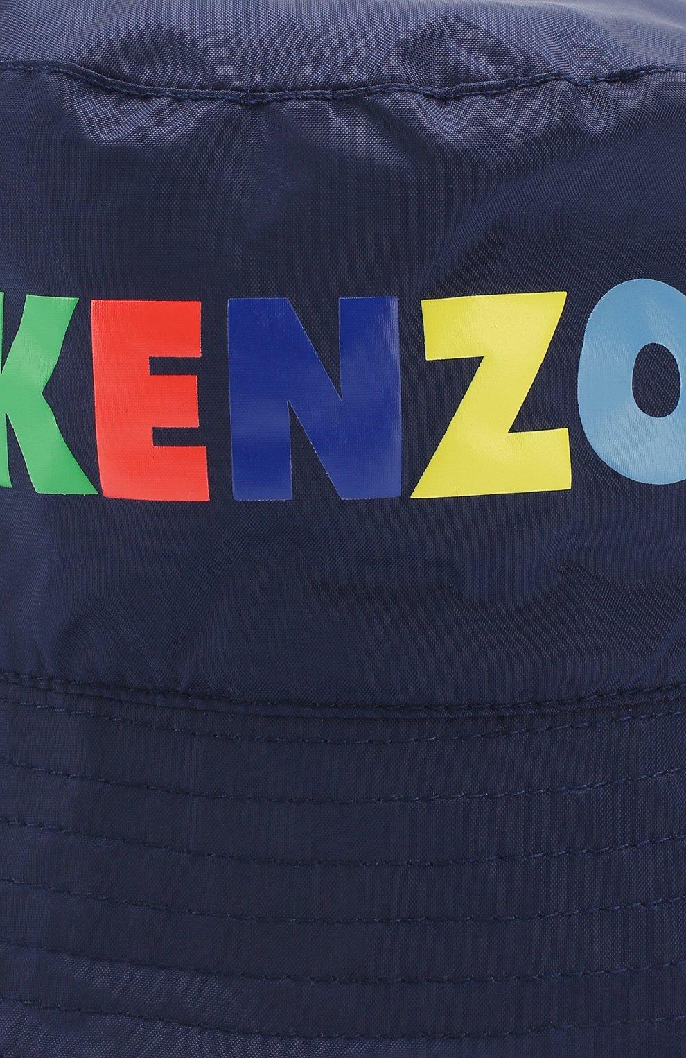 Детского комплект из ветровки и панамы с логотипом бренда KENZO темно-синего цвета, арт. KL42508/8A-12A | Фото 7