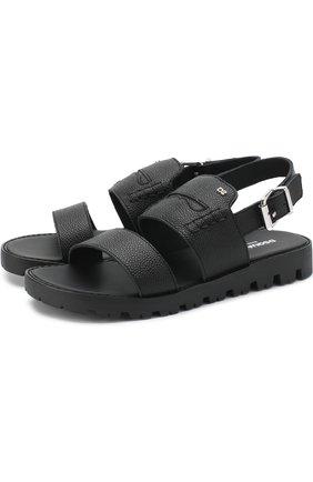 Кожаные сандалии на ремешке | Фото №1