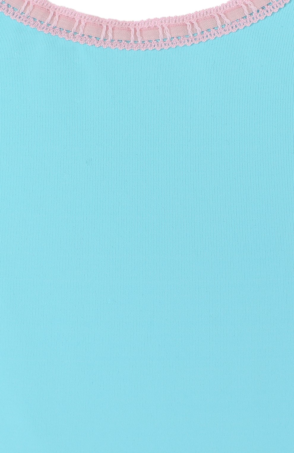 Детского слитный купальник с фигурным вырезом LA PERLA голубого цвета, арт. 67659/8A-14A | Фото 3
