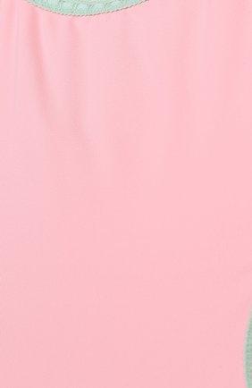 Детского слитный купальник с фигурным вырезом LA PERLA розового цвета, арт. 67659/8A-14A   Фото 3