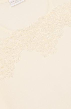 Детская сорочка из вискозы с кружевной отделкой LA PERLA бежевого цвета, арт. 51863/8A-14A | Фото 3