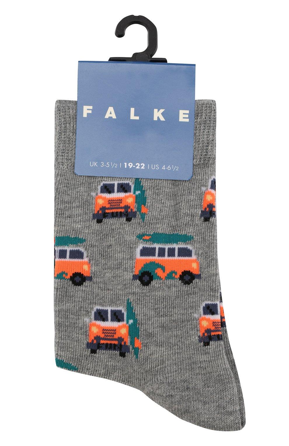 Детские носки с принтом FALKE серого цвета, арт. 12149 | Фото 1