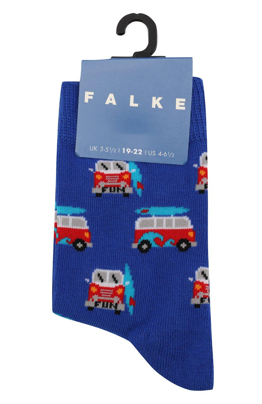 Детские носки с принтом FALKE синего цвета, арт. 12149 | Фото 1