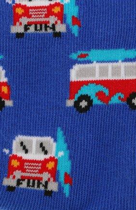 Детские носки с принтом FALKE синего цвета, арт. 12149 | Фото 2