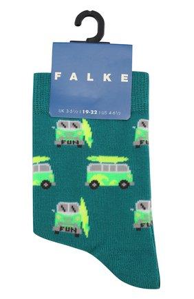 Детские носки с принтом FALKE зеленого цвета, арт. 12149 | Фото 1