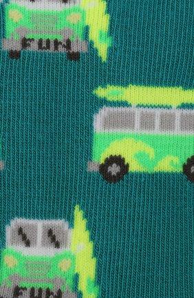 Детские носки с принтом FALKE зеленого цвета, арт. 12149 | Фото 2